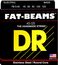DR Strings FB5-45 FAT BEAMS Compression-Wound Stainless Steel Bass Guitar String