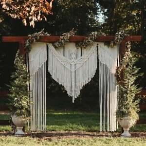 Personalized Ornaments Macrame Wall Hanging Boho Curtain Wedding Backdrop