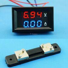 DC 0-300V 50A Voltage Current Meter Digital LED Volt  Ammeter + Shunt 12v 24v VA