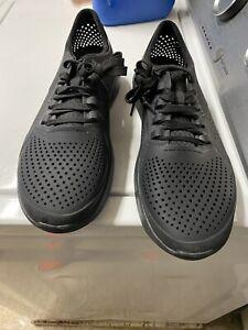crocs men's literide pacer sneaker Size 12 Black