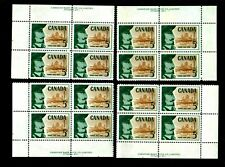CANADA #379 5¢ CHAMPLAIN 1958 MINT NEVER HINGED MATCHED SET OFSTAMP PLATE BLOCKS
