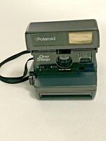 Vintage Polaroid One-Step Instant Camera W/ Strap, Deluxe Case & Built In Flash