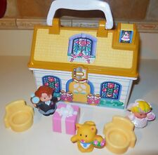 FISHER PRICE LITTLE PEOPLE WEDDING CHAPEL HOUSE COLLECTABLE CARRY PLAY N GO LOT