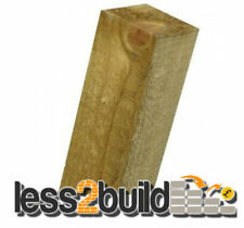 "Treated Timber Wooden Fence Posts 3"" X 3"" X 8ft Long"