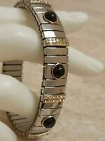 Jet Black Jewelry Statement Bracelet Swarovski Diamond bangle bracelet 2ct Hmade