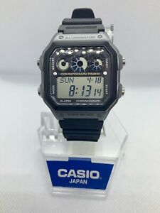 Casio World Time AE-1300WH Retro Quartz Alarm Watch