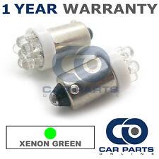 2x XENON verde BA9S T4W 233 LUCI DI POSIZIONE Upgrade 7 TESTATA LED LAMPADINE