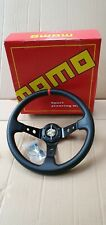 Momo Steering Wheel 350mm PVC Carbon Wrapped Deep Dish Universal Fittment