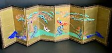 Antique Japanese Hand Painted Two Birds Table Screen (Q2 )