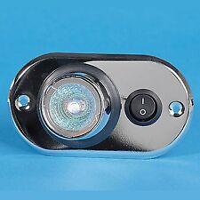 CARAVANE/CAMPING-CAR/BATEAU Lampe Spot – 12 Volts Halogène Effet Chrome – PO757