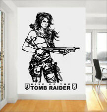 Tomb Raider Lara Croft Wall Art Sticker/Decal PS4 XBOX Home Bedroom