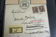 Austria Registered Cover 1917 with Multiple Markings Vf