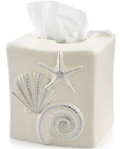 Avanti Bath Sequin Shells Tissue Cover T410245