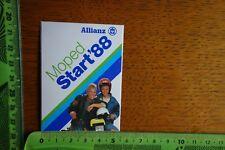 Alter Aufkleber Verkehr PKW LKW Krad Moped Start 1988 Allianz