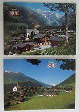Postkarten Lot Schweiz 2x ERNEN Kanton Wallis AK Helvetia Briefmarken Suisse AK
