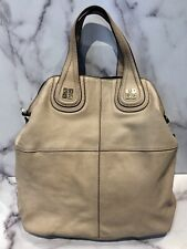 GIVENCHY Nightingale Large Beige Leather Tote Bag