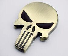 3D Skull Emblem Badge Decal for Harley Motor Tank Dyna Sportster Fatboy Softail