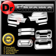 09-14 Ford F150 Chrome Mirror+2 Door Handle+keypad+no PSG keyhole+Tailgate Cover