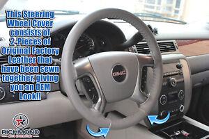 2007-2014 Chevy Tahoe Suburban LT Z71 LS LTZ-Leather Steering Wheel Cover, Gray