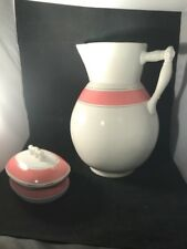 Antique 1882-1895 T.P.C.Co. Chamber Set Soap Dish Lid & Water Pitcher Dresden