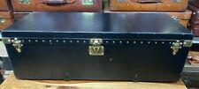 vintage black vuittonite louis vuitton motoring steamer trunk ideal coffee table