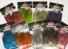 SPIRIT RIVER UV2 GRIZZLY SOFT HACKLE FEATHERS FOR FLY JIG TYING YOU PICK COLOR
