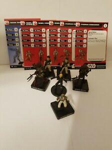 Star Wars Miniatures Deena Shan & Rebel Commando Rebel Team Builder Lot