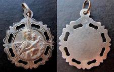 bonita medalla religiosa VIRGEN DEL CARMEN plata cincelada religious silver