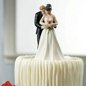 Yes To The Rose Romantic Wedding Cake Topper WITH Custom Hair Colors