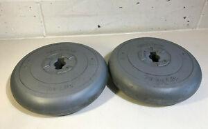 """2 x 6.5kg Orbatron Vinyl Weights Dumbells 1"""" Fitness Gym 13kg Total"""
