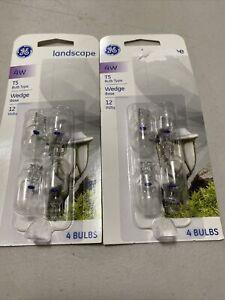 GE 4w Landscape T5 Bulb Wedge Base 8 Bulbs PC 40178