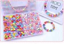 Girls Kids DIY Bracelet Arts Craft Make Own Beads Jewellery Making Set Box Gift