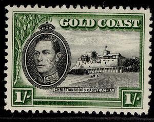 GOLD COAST GVI SG128a, 1s black & olive-green, M MINT.