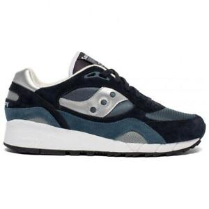 NEW IN BOX! MENS SAUCONY Shadow 6000 Navy Silver CLASSIC CASUAL SNEAKER S70441-6