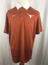 Nike Dri-fit New With Tags and 3 XL Orange And White Longhorns Polo B6