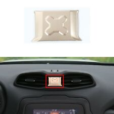 Aluminum Car Inner Center Air Outlet Vents Trim-Gold for Jeep Renegade 2015-17