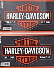"2 HARLEY DAVIDSON BAR & SHIELD 9"" AUTO STICKER Large STICK ONZ Chroma DECALS NEW"