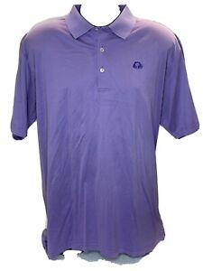 Peter Millar Men's 100% Cotton Short Sleeve Golf Polo Shirt Purple Size XXL