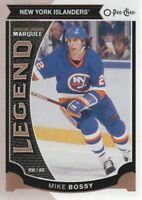 2015-16 O-Pee-Chee Hockey #562 Mike Bossy Legend New York Islanders