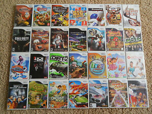Nintendo Wii Games! You Choose from Large Selection! $6.95 Each!