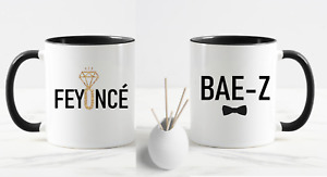 FREE POSTAGE FEYONCE AND BAE-Z BEYONCE JAY-Z ENGAGEMENT SET OF MUGS GREAT GIFT