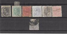 España. Conjunto de 7 sellos Alfonso XII