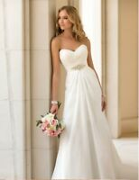 Brautkleid Standesamt Hochzeitskleid A-Linie 32 - 48 Braut Kleid Chiffon BC497