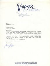 JEANA YEAGER Autographed Signed Typed Letter Voyager Aircraft Dick Rutan Mojave
