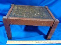 Antique Mission Oak Craftsman Art & Craft Foot Stool Ottoman VTG Solid Wood Old