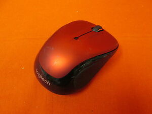 Logitech Wireless Mouse M325 Scrolling Red Mouse Only Very Good 6200