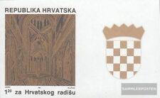 Croacia Z8B II con ornamento (completa.edición.) nuevo con goma original 1991 Ge