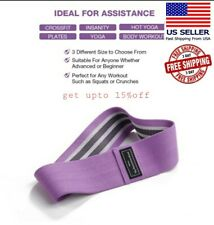 Cloth Fabric Resistance Hip Booty Bands Loop Set of 3 Exercise Workout Fitness