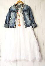 Moonshine Kleid  44 46 48 Weiß Lagenlook Pünktchen Dots Sommer Neu