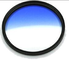 37/40.5/46/49/52/55/58/62/67/72/77/82mm Graduated Blue Color Filter Lens